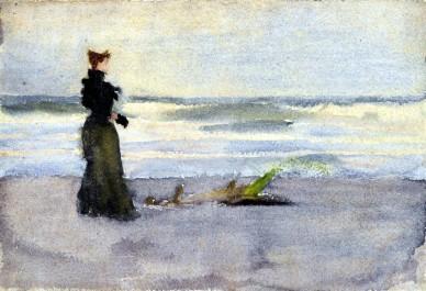 Anshutz_Edwardian-Woman-at-beach
