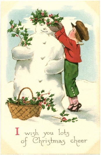 Free-Vintage-Snowman-Image-GraphicsFairy-663x1024