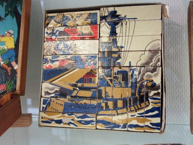 World War I ship wooden block puzzle